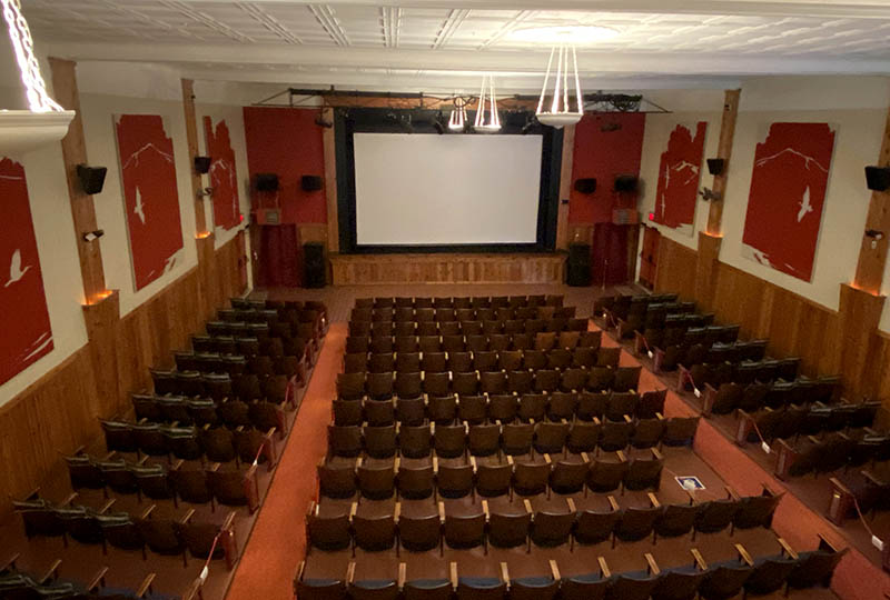 The inside of The Colonial's auditorium.