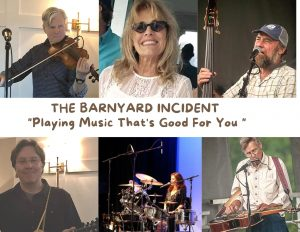 The Barnyard Incident at Bandemic on the green at Rek'-Lis on July 3, 2021 in partnership with The Colonial Theatre, Bethlehem, NH