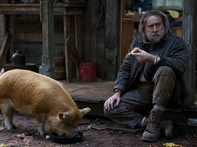 Pig, starring Nicolas Cage, The Colonial Theatre, Bethlehem, NH